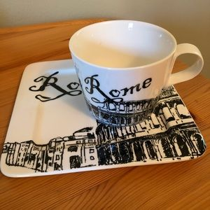 Rome mug and plate set